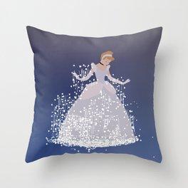fairy godmother's magical dress Throw Pillow