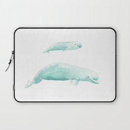 Beluga whale with baby Laptop Sleeve