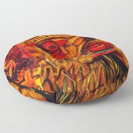 Indigenous Inca Tribes People portrait painting by Ortega Maila Floor Pillow