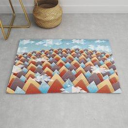 Abstract Adventurous Mountain Art Rug
