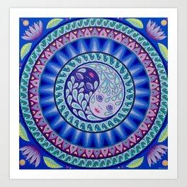YinYang Harmony Mandala Art Print