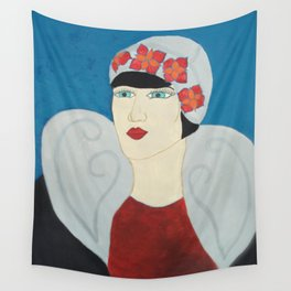 Art Deco Lady with Hat Wall Tapestry