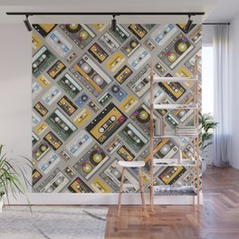Retro cassette tape pattern 4 Wall Mural