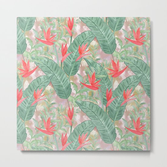 Tropical pattern 3 Metal Print