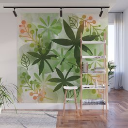 Peaches and Greens Wall Mural