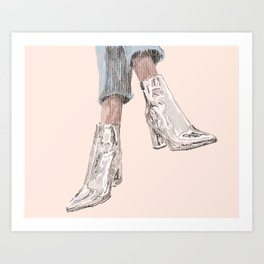 Chrome Shoes Art Print