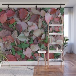 Autumn fallen leaves Wall Mural