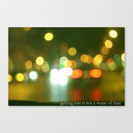 getting lost Canvas Print