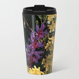 Bromeliad Surrounded by Tropical Yellow Flowers Travel Mug