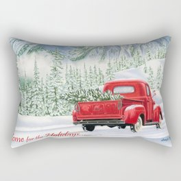 The Road Home- Home for the Holidays Rectangular Pillow