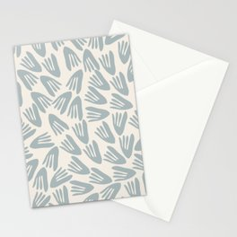 Papier Découpé Abstract Cutout Pattern in Cream and Light Blue-Gray Stationery Cards