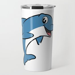 Love dolphins, I love dolphins T-shirt Dolphin are the animals, the mammals. Love Dolphins Travel Mug