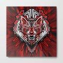 Wolf Tattoo Style Haida Art by bluedarkatlem