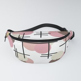 Atomic Age Molecules 3 Salmon Pink Brown Fanny Pack