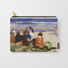 Edward Henry Potthast - On The Beach, Ogunquit, Maine Carry-All Pouch