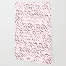 Strawberry Patch Watercolor Pattern Wallpaper