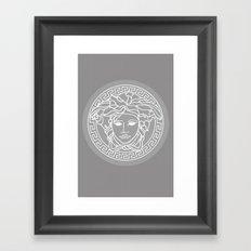 Versace Grey Framed Art Print