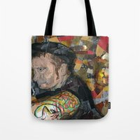 patrick Tote Bags featuring patrick by rAr : Art by Robyn Ashley Rosner