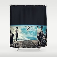 lsd Shower Curtains featuring LSD SPACE  by Maioriz Home