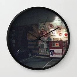 open 24 hrs Wall Clock