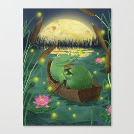Frog love Canvas Print