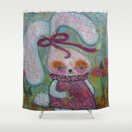 Tabitha Rabbit - Whimsies of Light Children Series Shower Curtain