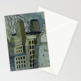 Jaunty City in Pewter Grays Stationery Cards
