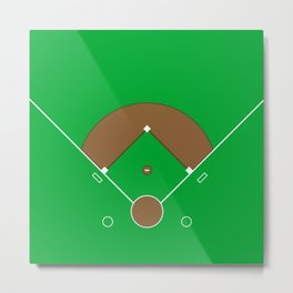 Baseball Field Team Sports Metal Print