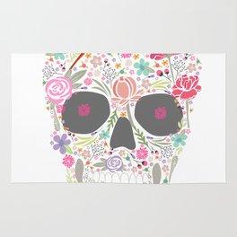 Art Skull Flower Rug