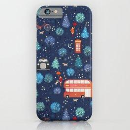London Christmas iPhone Case