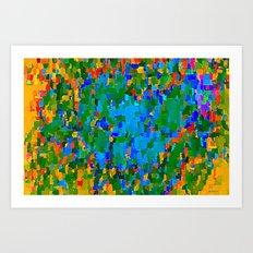 Winning blue Art Print