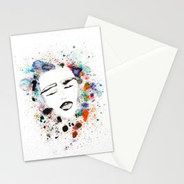 Sleepy Face in Spatter Pillow Stationery Cards