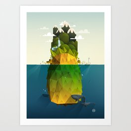 Pineapple isle Art Print