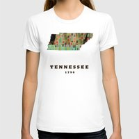 tennessee T-shirts featuring Tennessee state map modern by bri.buckley