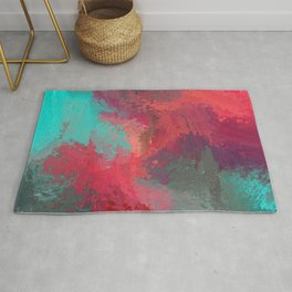 Passionate Firestorm Abstract Painting Rug