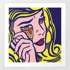 Crying Pizza Girl Art Print