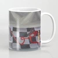 chess Mugs featuring Chess by Lark Nouveau Studio