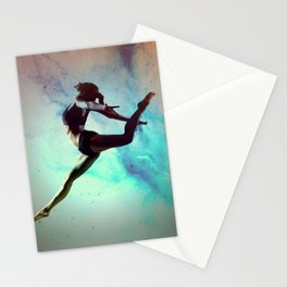 Ballet Dancer Feat Lady Dreams Abstract Art Stationery Cards