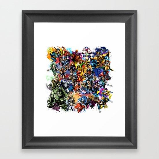 Marvel MashUP Framed Art Print
