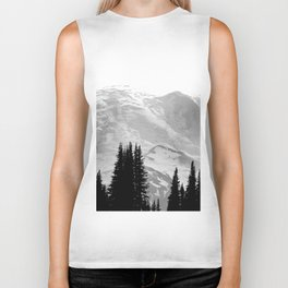 Mount Rainier Black and White Biker Tank