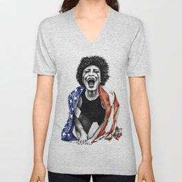 Give me liberty or give me death. Unisex V-Neck