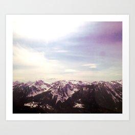 Mountains Rising Art Print
