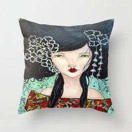 Geisha Girl # Throw Pillow