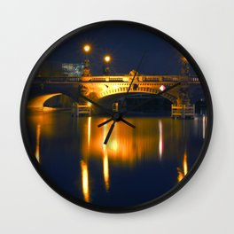 BERLIN NIGHT on the RIVER SPREE Wall Clock