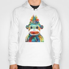 Sock Monkey Art - Your New Best Friend - By Sharon Cummings Hoody
