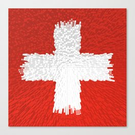 Extruded flag of Switzerland Canvas Print