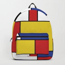 Mondrian Geometric Art Backpack