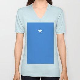 flag of somalia Unisex V-Neck