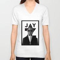 jay z V-neck T-shirts featuring JAY-Z by olivier silven