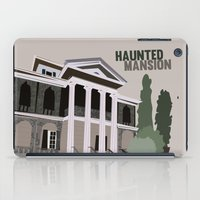 haunted mansion iPad Cases featuring new Orleans square.. haunted mansion by studiomarshallarts